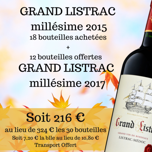 Offre Grand Listrac Automne 2021